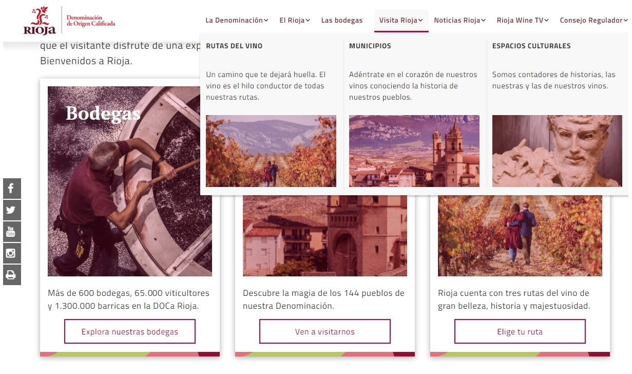 Rioja revamps its website